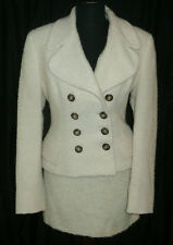 DOLCE & GABBANA ~ stylish wool ivory skirt suit ~ size: S / M * AUTHENTIC D&G