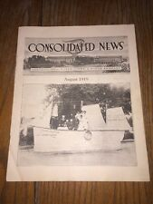 1919 Aug Consolidated News Paper Mill Magazine Grand Rapids Biron Wisconsin Rare