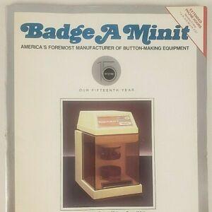 Badge A Minit Button Making Equipment Catalog 1987 Order Form Designs Ideas Zine