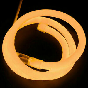 110V 360° Round LED Neon Rope Light Tubes for Building Garden Waterproof Outdoor