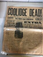 VINTAGE NEWSPAPER FROM 1931 THE Oakland Post Enquirer Calvin Collage Dead
