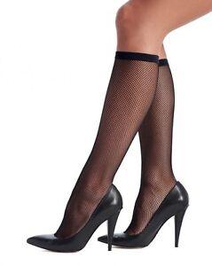6 Pack Oroblu Tricot Knee-highs, micro fishnet knee-highs elastic comfort border