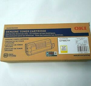 GENUINE Okidata 44318601  Yellow Toner For C710/ C711 color printers (SEALED)