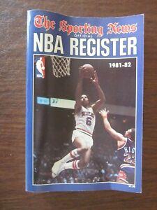 1981-82 The Sporting News TSN NBA Register Dr. J Julius Erving on the Cover