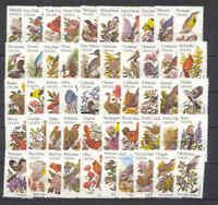 US 1953-2002 MNH OG 1982 State Birds and Flowers Singles Full Set