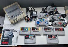Super Nintendo Entertainment System Console Bundle **Good Condition** SNES PAL