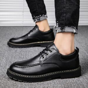 Mens Lace up Round toe Casual Business Party Oxfords Outdoor Breathable Shoes sz