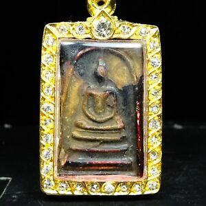 Rare Old Phra Somdej Toh Wat Rakhang Thai Buddha amulet, powerful #2