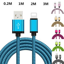 USB Fast Charger Charging Cable Braided Cord For iPhone 11 Pro Max XS 6 7 8 iPad