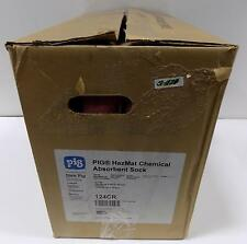 PIG HAZMAT CHEMICAL ABSORBENT SOCK 124CR NIB 12 IN BOX