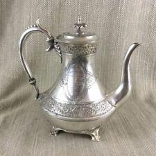 Victorian Tea/Coffee Pots/Set Antique Silver Plate