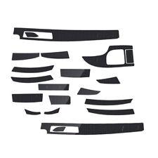 5D Interior Glossy Carbon Fiber Wrap Trim Decal Fit For BMW 5-Series E60 2003-10
