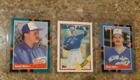 (3) David Wells 1988 Topps Donruss Upper Rookie card lot RC Yankees Blue Jays