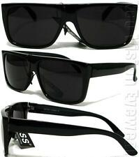 KISS Flat Top Wayfarer Sunglasses Super Dark Lens Black K60SD