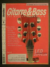 GITARRE & BASS 1999 # 9 - LED ZEPPELIN ROBBEN FORD MASTERS OF REALITY FRANK BLAC