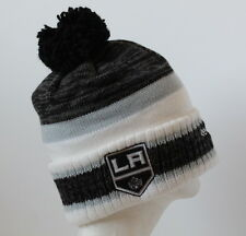 NHL Los Angeles Kings Adult Reebok Center Ice Cuffed Knit Cap Beanie with Pom