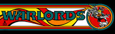 Warlords Atari Arcade Marquee For Reproduction Header/Backlit Sign