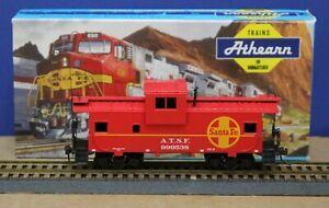 Athearn 5367 HO Santa Fe ATSF Wide Vision Caboose Kit 999538 Built Boxed Kadees