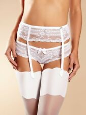 385d04756 CHANTELLE Idole porte jarretelle garter belt cincher wedding T U   Sz U  white
