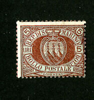 San Marino Stamps # 24 F OG NH Scarce Scott Value $575.00