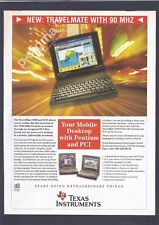 TEXAS INSTRUMENTS TravelMate 5000 5001 Laptop - 1995 Print Ad