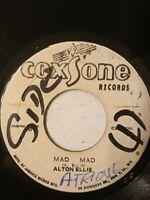 """Alton Ellis – Mad Mad - 7"""" Vinyl Single"""