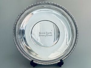 """Frank Whiting """"Talisman Rose"""" 10 3/8"""" Sterling Silver Sandwich Plate"""