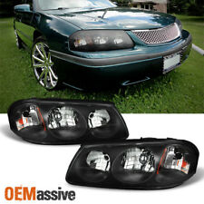 Fit 00 05 Chevy Impala Black Replacement Headlights Headlamps Left Right
