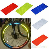Utility Fluorescent Bike Bicycle Wheel Tyre Rim Reflective Stickers Tape FE