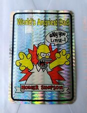 1980s The Simpsons Vending Machine Prism Sticker Homer World's Best Angriest Dad