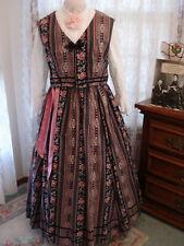 Ladies-Five Piece Civil War Costume-Rose Print Skirt-Vest-Blouse -Belt & Hat