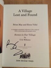 SIGNED by Brian May - A Village Lost and Found HC + Pic Queen Guitarist