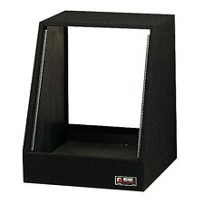 Odyssey 12 Spaces 12U Angled Face Open Back Carpeted Studio Rack, Black | CRS12