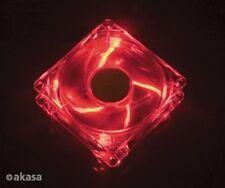 Akasa AK-274CR-4RDS 120mm Crystal Red LED Case Fan Sleeve Bearing