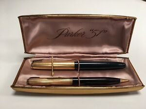 "Vintage PARKER ""51"" Fountain & Ball pen in original Box No. 265 made in USA"