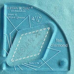 Template for quilting - Fan Diamond