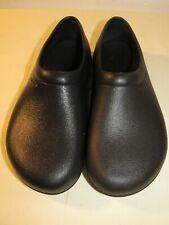 Crocs Men's and Women's On The Clock Work Black Slip Resistant Mens 7 / Womens 9