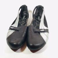 PUMA Womens Black Slip On Driving Shoes Ballerina Flats Athletic Sandals US 11W