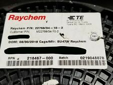Raychem/TE M22759/34-10-2 #10awg Dual XL-ETFE Spec 55 Hook-Up/Lead Wire Red/25ft