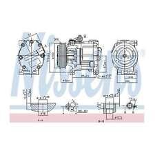 Fits Fiat 500C 1.2 Genuine OE Quality Nissens A/C Air Con Compressor