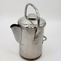 Vintage Revere Ware 14 Cup Coffee Pot Maker Percolator Copper Bottom