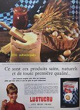 PUBLICITE LUSTUCRU PATES AUX OEUFS FRAIS MACARONI COUPES DE 1963 FRENCH AD PUB
