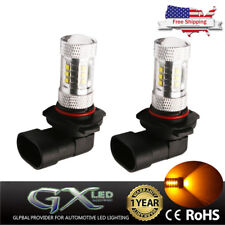 US 2x 9005 H10 Yellow/Amber Bulb Car 80W LED Fog Light HB3 9145 High Power Lamp