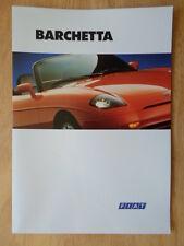 FIAT BARCHETTA 1995 ORIG UK vendite sul mercato opuscolo