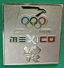 LONDON 2012 Olympic MEXICO NOC Internal team - delegation square pin