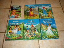 Heïdi, série 6 Livres anciens
