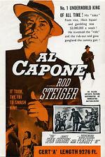 AL CAPONE 1959 Rod Steiger, Fay Spain, Martin Balsam UK SYNOPSIS