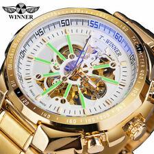 2020 Winner Golden Stainless Steel Waterproof Sport Automatic Luminous Men Watch