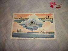 US Navy Ships Postcard WWII August 1941 U.S.S. Oklahoma