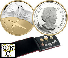 2009 Proof Double Dollar Set w/Gold Plated Silver $-100th Ann. flight  (12434)